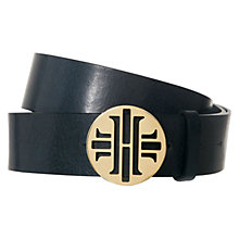 Buy Hobbs Harriet Belt, Navy Online at johnlewis.com