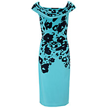 Buy Gina Bacconi Floral Jersey Dress, Turquoise Online at johnlewis.com