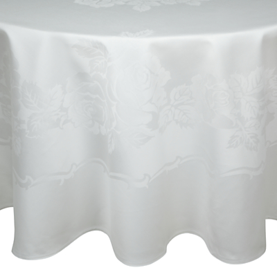 John Lewis Rose Damask Round Tablecloth