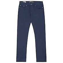 Buy Reiss Montreal Slim Fit Twill Jeans, Denim Blue Online at johnlewis.com