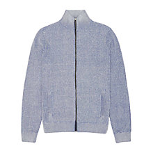 Buy Reiss Gill Zip Funnel Neck Jumper, Blue Online at johnlewis.com