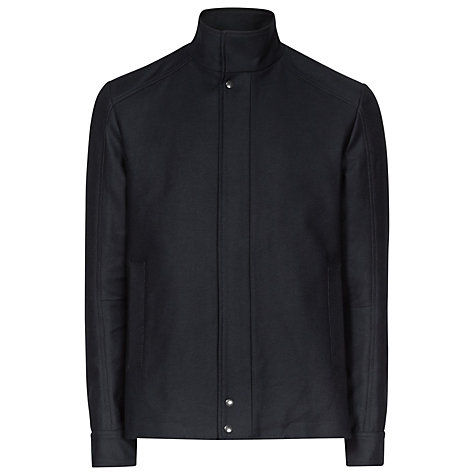 Buy Reiss Buckingham Funnel Collar Twill Jacket, Navy Online at johnlewis.com