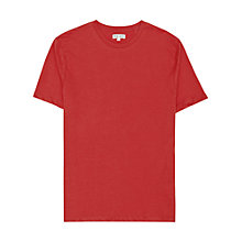 Buy Reiss Bless Basic Crew Neck T-Shirt, Blood Orange Online at johnlewis.com