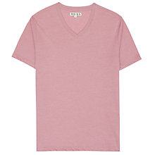 Buy Reiss Dayton Basic V-Neck T-Shirt, Pink Online at johnlewis.com
