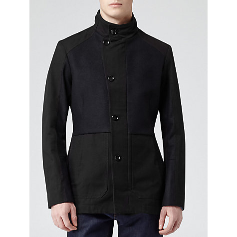 Buy Reiss Goose Funnel Neck Coat, Navy Online at johnlewis.com