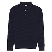 Buy Reiss Goldie Textured Knitted Polo Shirt Online at johnlewis.com
