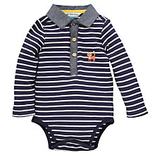 Buy John Lewis Stripe Fox Bodysuit, Navy/White Online at johnlewis.com