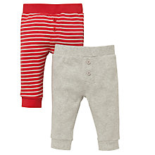 Buy John Lewis Rib Leggings, Pack of 2, Red/Grey Online at johnlewis.com