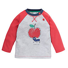 Buy John Lewis Ant Motif Raglan Top, Grey/Red Online at johnlewis.com