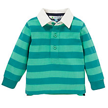 Buy John Lewis Stripe Rugby Top, Green Online at johnlewis.com