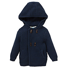 Buy John Lewis Tuck Stitch Hooded Cardigan, Navy Online at johnlewis.com