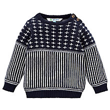Buy John Lewis Birdseye Knit Jumper, Navy Online at johnlewis.com