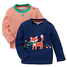 Buy John Lewis Fox/Stripe T-Shirt, Pack of 2, Multi Online at johnlewis.com