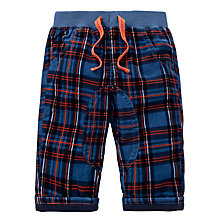 Buy John Lewis Check Corduroy Trousers, Blue/Orange Online at johnlewis.com