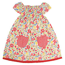 Buy Frugi Girls' Smocked Floral Dress, Multi Online at johnlewis.com