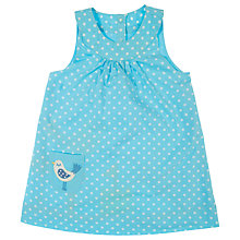 Buy Frugi Girls' Reversible Seagull Pocket Dot Dress, Blue Online at johnlewis.com
