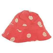 Buy Frugi Girls' Polka Dot Cotton Hat, Red Online at johnlewis.com