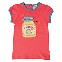 Buy Frugi Girls' Honey Pot T-Shirt, Red Online at johnlewis.com