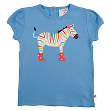 Buy Frugi Girls' Lovely Applique T-Shirt, Blue Online at johnlewis.com