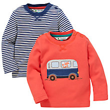 Buy John Lewis Campervan T-Shirt, Pack of 2, Multi Online at johnlewis.com
