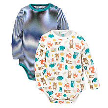 Buy John Lewis Woodland Bodysuit, Pack of 2, Multi Online at johnlewis.com