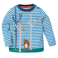 Buy John Lewis Woodland Bear Stripe Top, Blue/White Online at johnlewis.com