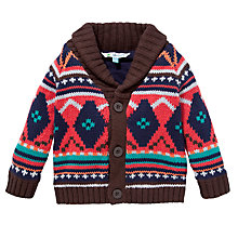 Buy John Lewis Shawl Collar Intarsia Knit Cardigan, Multi Online at johnlewis.com