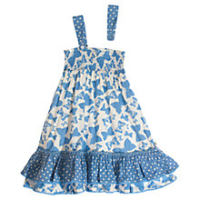 Buy Frugi Girls' Layered Hem Butterfly Dress, Blue Online at johnlewis.com