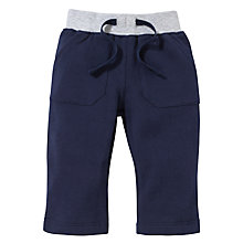 Buy John Lewis Ribbed Waist Joggers, Navy Online at johnlewis.com