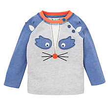 Buy John Lewis Raccoon Face Top, Blue/Grey Online at johnlewis.com