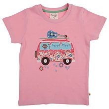 Buy Frugi Girls' Campervan Motif T-Shirt, Pink Online at johnlewis.com