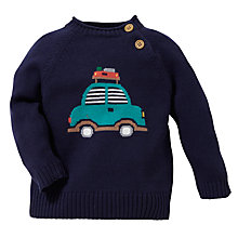 Buy John Lewis Intarsia Knit Camping Car Jumper, Navy Online at johnlewis.com