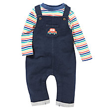 Buy John Lewis Dungarees & Stripe T-Shirt Set, Navy/Multi Online at johnlewis.com