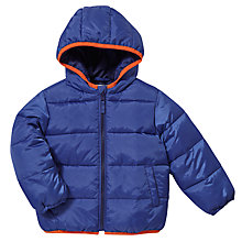 Buy John Lewis Roll-Up Quilt Padded Coat, Blue Online at johnlewis.com
