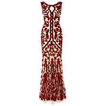 Buy Phase Eight Collection 8 Mayfair Tapework Full Length Dress, Scarlet/nude Online at johnlewis.com