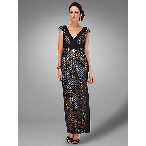 Buy Phase Eight Collection 8 Bloomsbury Full Length Dress, Black/Nude Online at johnlewis.com