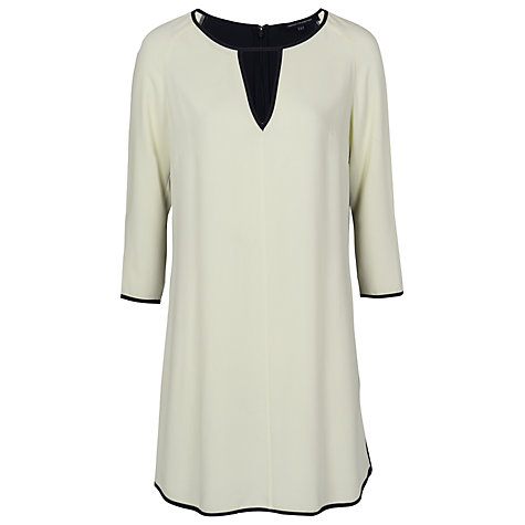 Buy French Connection Tunic Dress, Utility Blue/Acid Zest Online at johnlewis.com