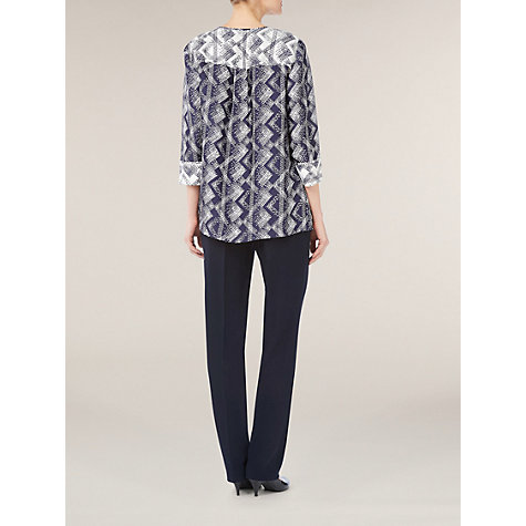 Buy Windsmoor Como Tunic Top, Navy / Ivory Online at johnlewis.com