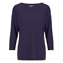 Buy Jigsaw Cotton Slub Drop Shoulder T-shirt, Navy Online at johnlewis.com