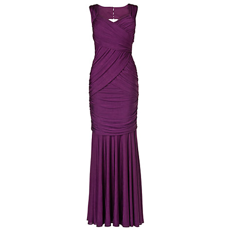 Buy Phase Eight Collection 8 Leila Full Length Dress, Damson Online at johnlewis.com