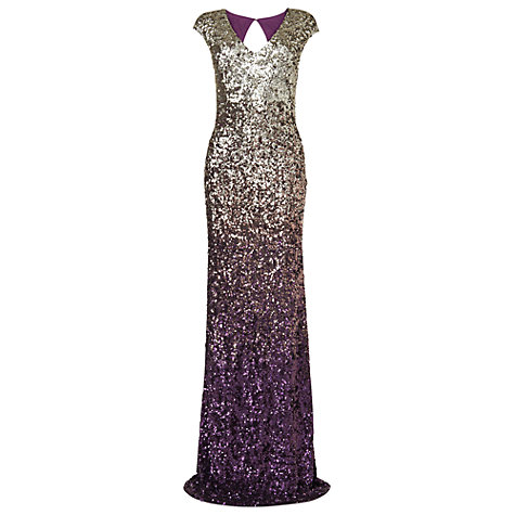 Buy Phase Eight Collection 8 Brompton Full Length Dress, Damson Online at johnlewis.com