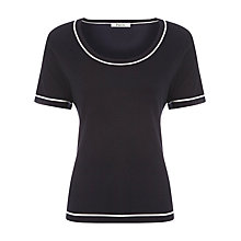 Buy Precis Petite Contrast Trim Top, Navy Online at johnlewis.com