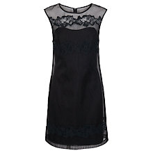Buy French Connection Russo Lace Dress, Black Online at johnlewis.com