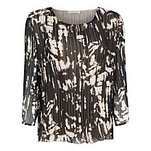 Buy Windsmoor Crinkle Print Top, Brown Online at johnlewis.com