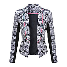 Buy Miss Selfridge Floral Print Panel Jacket, Multi Online at johnlewis.com