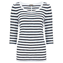 Buy Jigsaw Jersey Slub Top, Stripe Online at johnlewis.com