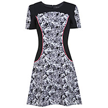 Buy Miss Selfridge Assorted Floral Print Dress, Grey/Black Online at johnlewis.com