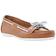 Buy Bertie Lester Leather Boat Loafers, Tan Online at johnlewis.com