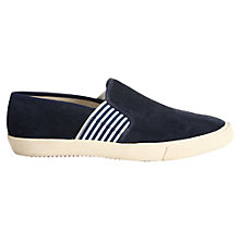 Buy Jigsaw Canvas Plimsolls, Navy Online at johnlewis.com