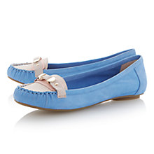 Buy Dune Lancelot Metal Detail Leather Moccasin, Blue Online at johnlewis.com